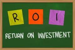 Retour sur l'investissement illustration libre de droits