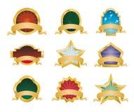 Retr� Vintage Emblems - Set 1 Royalty Free Stock Photos