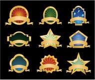 Retr� Vintage Emblems - Set 1. Collection of Vintage Gold Emblems - Set 1 Royalty Free Stock Photo