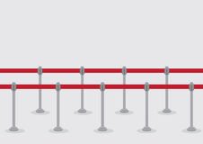 Retractable Belt Queue Stanchions Vector Illustration Stock Images