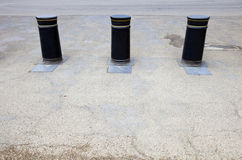 Retractable Bollards in London Stock Images