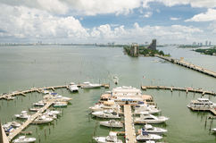 Retractable Bridge and skyline of Miami South Beach Royalty Free Stock Images