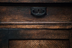 Retractable drawer sideboard closeup Stock Photos