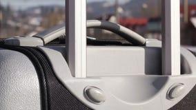 Retractable Handle Suitcase stock video