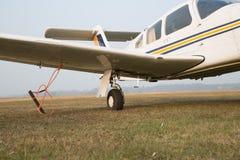 Retractable landing gear of single-engine aircraft Royalty Free Stock Photos