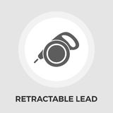 Retractable lead vector flat icon Royalty Free Stock Photo