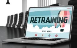 Retraining on Laptop in Conference Room. 3D. Stock Photos