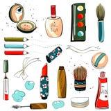 Retrait coloré réglé de renivellement illustration stock
