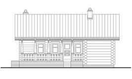 Retrait détaillé de la construction en bois de sauna Photographie stock
