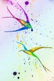 Retrait d'aquarelle oiseaux image stock