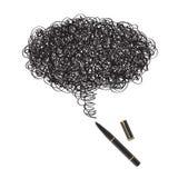 Retrait d'encre avec le crayon lecteur noir Photos libres de droits
