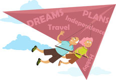 Retrait de baby boomers illustration libre de droits
