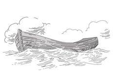 Retrait de bateau illustration libre de droits