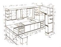 Retrait de dessin à main levée moderne de conception intérieure. illustration de vecteur