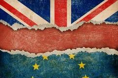 Retrait de la Grande-Bretagne de concept de brexit d'Union européenne Images libres de droits