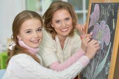 Retrait de mère et de descendant Photographie stock libre de droits