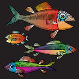 Retrait de main de poissons Photos stock