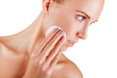 Retrait de maquillage images libres de droits