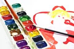 Retrait de pinceaux de couleur d'eau Photographie stock