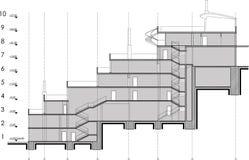 Retrait de section de construction Illustration de Vecteur