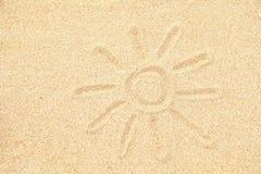 Retrait de Sun sur le sable Photos libres de droits