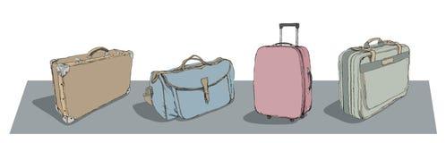 Retrait des bagages Photographie stock