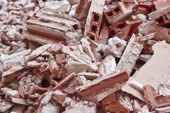Retrait des débris Déchets de construction Démolition de bâtiment Eart images libres de droits
