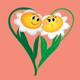 Retrait et illustration floraux de coeur Photo libre de droits