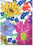 Retrait floral Photos stock