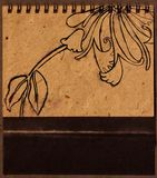 Retrait floral de main Images stock