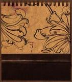 Retrait floral de main Images libres de droits