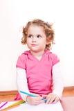 Retrait mignon de petite fille Image libre de droits