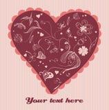 Retrait mignon de valentine Photos stock