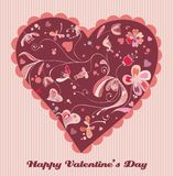 Retrait mignon de valentine Photo libre de droits
