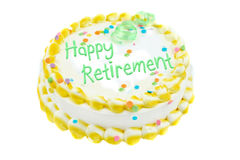 retraite heureuse de fête de gâteau Photos stock