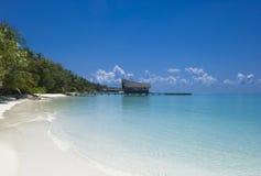 Retraite parfaite d'île Image libre de droits
