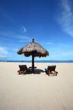 Retraite tropicale de plage Image libre de droits