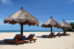 Retraite tropicale de plage Photos stock