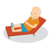 Retraites. Retired person, enjoying his holidays, happy Royalty Free Stock Photo