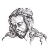 Retraits d'encre de Jésus-Christ illustration de vecteur