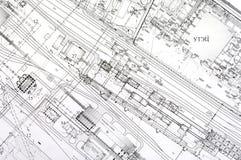 Retraits de conception et de projet. image stock