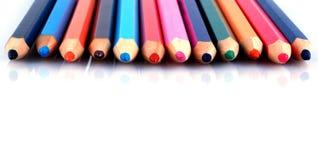 Retraits et crayons Images stock