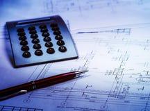 Retraits et outils architecturaux images stock