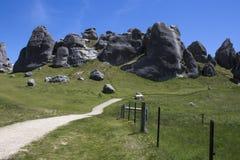 Retranchez-vous la colline en île du sud du ` s du Nouvelle-Zélande photographie stock libre de droits