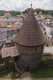 Retranchez-vous la tour, Wehrturm Elsterberg, Burg Ruine photos stock