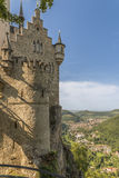 Retranchez-vous le Lichtenstein avec la vue dans la vallée photos libres de droits