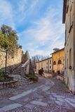 Retranchez-vous sur la colline Cidneo à Brescia, Italie Photos stock