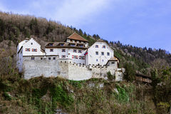 Vue de château de Vaduz Photos stock