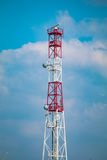 Retransmisión marina de la torre del radar Fotografía de archivo libre de regalías
