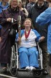 Retransmisión 2014 del bastón del ` s de la reina de los juegos de la Commonwealth Fotos de archivo